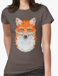 Low-poly Geometric Fox Womens Fitted T-Shirt