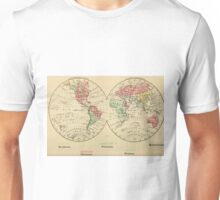 Vintage Map of The World's Religions (1883) Unisex T-Shirt