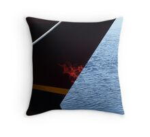 MV Eagle, Reflection on bow from Dock Throw Pillow