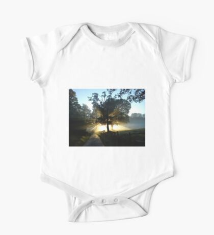 Dawn Light and Trees One Piece - Short Sleeve