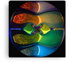 Neon Sphere Canvas Print