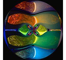 Neon Sphere Photographic Print