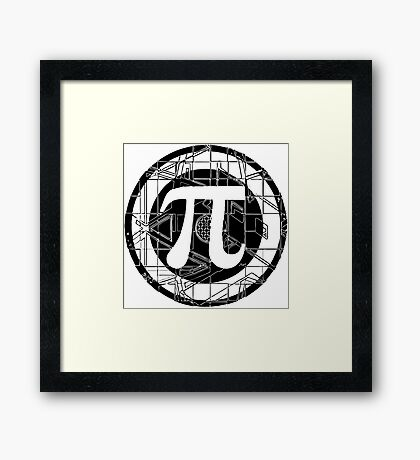 Pi Day Pi Symbol Framed Print