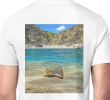 Mediterranean cove with cuttlefish underwater Unisex T-Shirt
