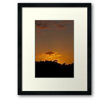 Summer Solstice Sunset 2011 Framed Print