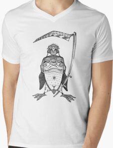 The Grim Penguin Mens V-Neck T-Shirt