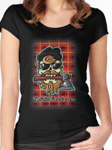Lumbersexual Skull Women's Fitted Scoop T-Shirt