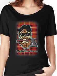 Lumbersexual Skull Women's Relaxed Fit T-Shirt