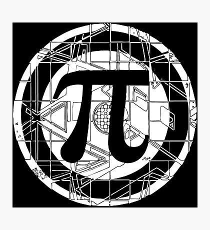 Pi Day Pi Symbol White Photographic Print