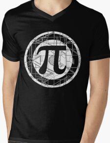 Pi Day Pi Symbol White Mens V-Neck T-Shirt