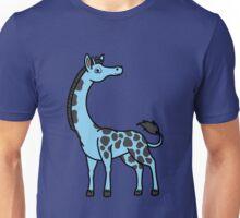 Light Blue Giraffe with Black Spots Unisex T-Shirt