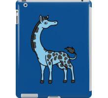 Light Blue Giraffe with Black Spots iPad Case/Skin