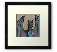 Toothless & stitch  Framed Print