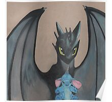 Toothless & stitch  Poster