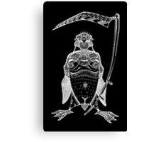 The Grim Penguin (inverted) Canvas Print
