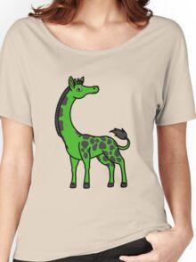 Green Giraffe with Black Spots Women's Relaxed Fit T-Shirt
