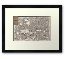 Vintage Map of London England (1899) 2 Framed Print