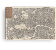 Vintage Map of London England (1899) 2 Canvas Print