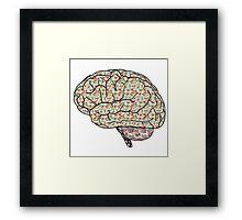 Abstract Brain! Framed Print