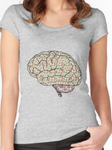 Abstract Brain! Women's Fitted Scoop T-Shirt