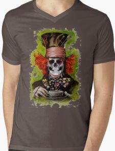 Mad Hatter Mens V-Neck T-Shirt