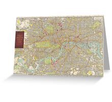 Vintage Map of London England (1910) Greeting Card