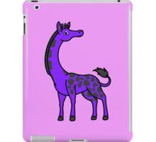 Purple Giraffe with Black Spots iPad Case/Skin