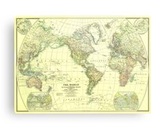 Vintage Map of The World (1922) 2 Metal Print