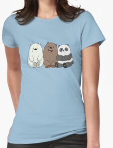 We Bare Bears Womens Fitted T-Shirt