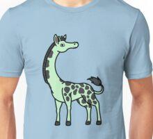 Light Green Giraffe with Black Spots Unisex T-Shirt