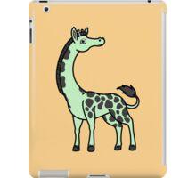 Light Green Giraffe with Black Spots iPad Case/Skin