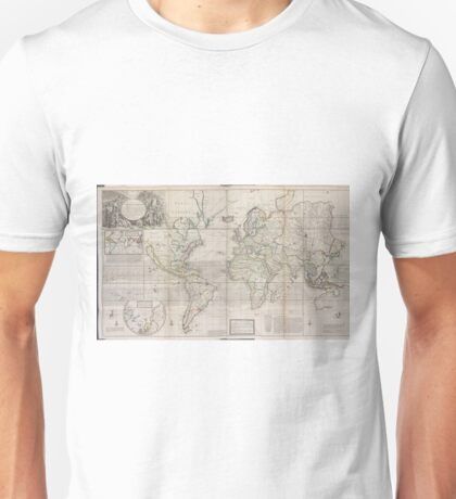Vintage Map of The World (1719) Unisex T-Shirt