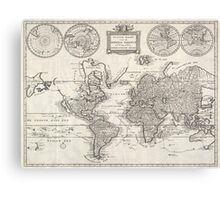 Vintage Map of The World (1786) Canvas Print