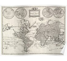 Vintage Map of The World (1786) Poster