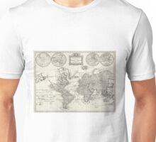 Vintage Map of The World (1786) Unisex T-Shirt