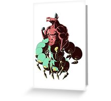 Centipede  Greeting Card