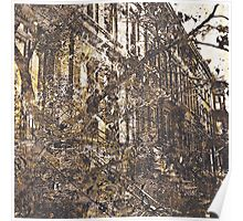 Autumn in Brooklyn modern abstract painting art design Poster