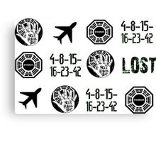 Lost-symbols Canvas Print