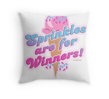 Sprinkles For Winners Throw Pillow