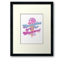 Sprinkles For Winners Framed Print