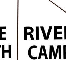 White River Tent Sign Sticker