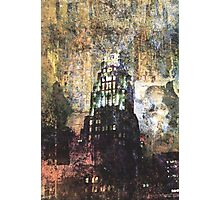 New York empire state building at night modern abstract painting art design Photographic Print