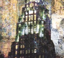New York empire state building at night modern abstract painting art design Sticker