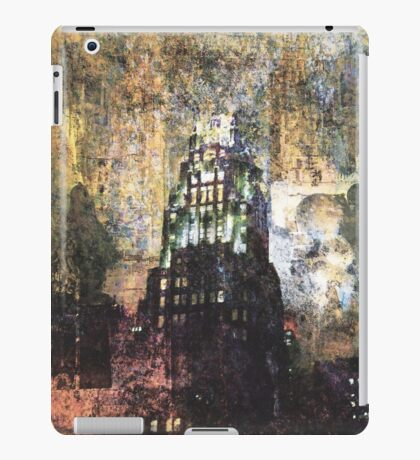 New York empire state building at night modern abstract painting art design iPad Case/Skin