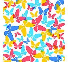 Butterflies pattern Photographic Print