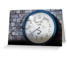 Worlds End Blue Greeting Card