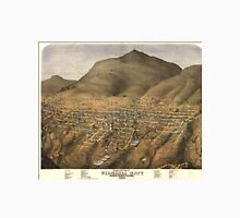Vintage Pictorial Map of Virginia City Nevada Unisex T-Shirt