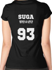 BTS - Suga Jersey Style Women's Fitted Scoop T-Shirt