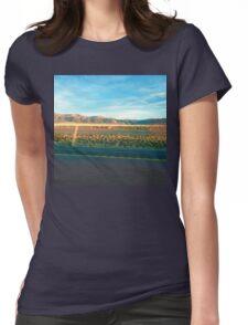 Blue Sky Desert Highway Womens Fitted T-Shirt
