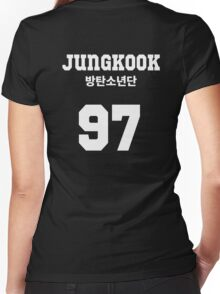BTS - Jungkook Jersey Style Women's Fitted V-Neck T-Shirt